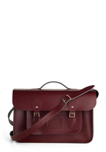 "Upwardly Mobile Satchel in Oxblood - 15"", #ModCloth  Why are all beautiful satchels so expensive! No fair!"