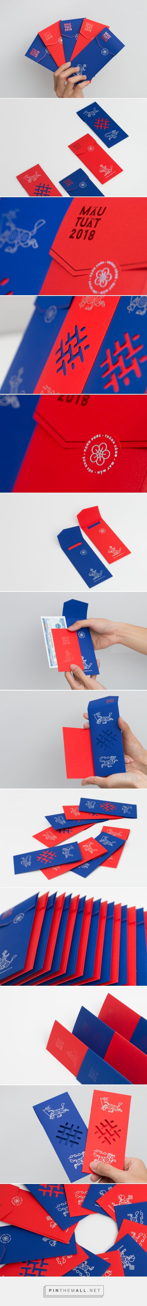 The Year Of Five Dogs Red Packet Envelopes - Packaging of the World - Creative Package Design Gallery - http://www.packagingoftheworld.com/2018/01/the-year-of-five-dogs.html