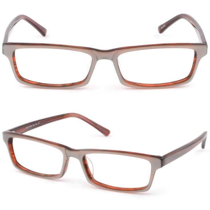Rectagular Men Women Acetate Frame Prescription Glasses RX Sunglasses AR Coating #Unbranded