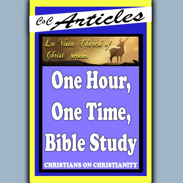 One Hour, One Time, Bible Study - La Vista | La Vista Church