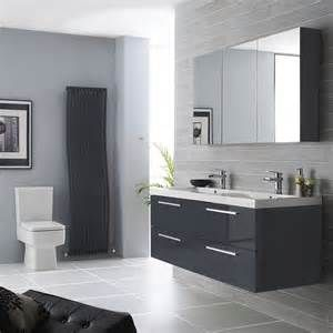 Superior Grey Bathroom Vanity #13 - Black And White Small Bathroom ...