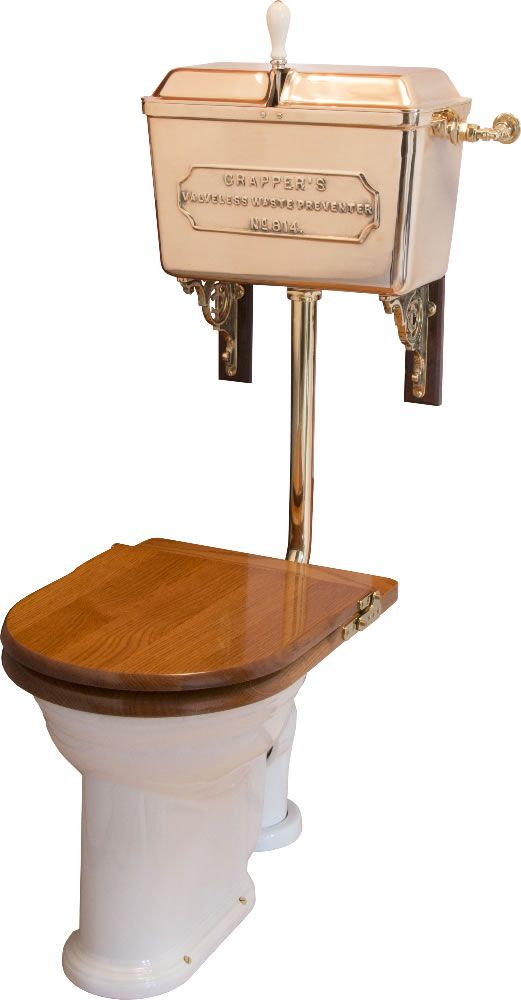 Thomas Crapper Solid Bronze '814' Low-level Cistern