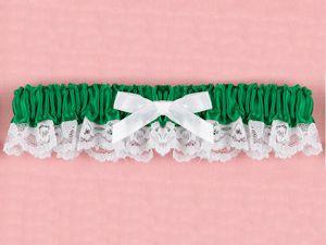 Emerald Ribbon And Lace Garter Green WeddingsLace