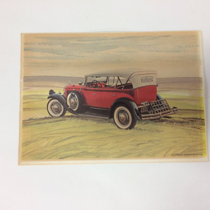 Chrysler Dodge Dealership Thank You Litho Print 1929 Pierce Arrow Phaeton by KoolKoolThangs on Etsy