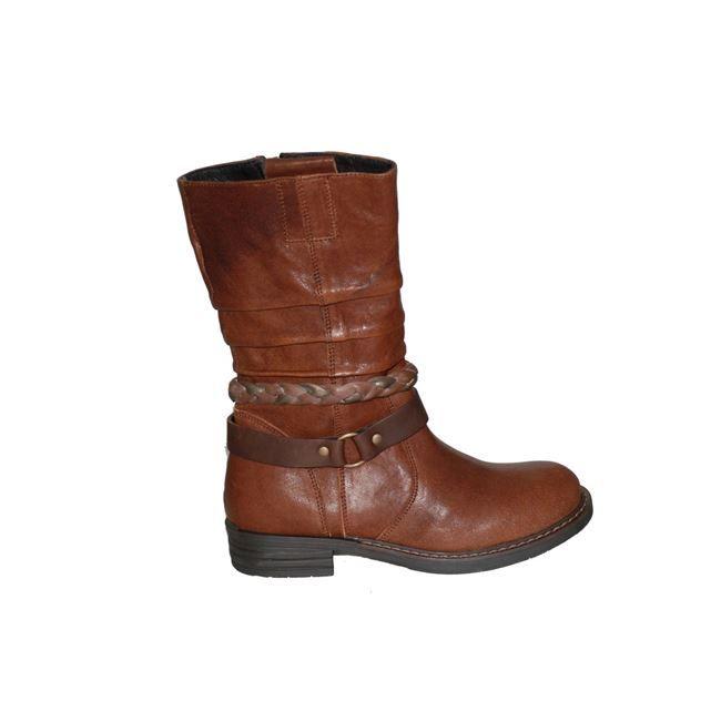 #girls #boots Μπότα Μούγερ δερμάτινη, καφέ με λουριά και φερμουάρ στο πλάι. www.mouyer.gr/paidika-papoutsia/koritsia/mouger-3-bota-dermatini-kafe_54052/