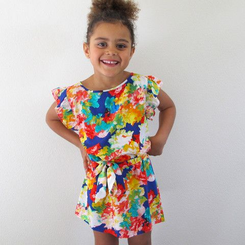 little girls heaven - Freda Kahlo Dress - floral - FKD1