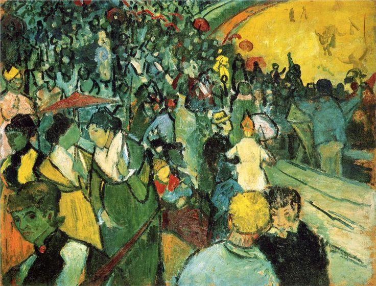 Spectators in the Arena at Arles, 1888Vincent van Gogh