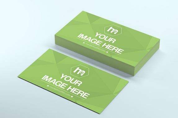 Business Card Front And Back Mockup Generator Contacts Phone