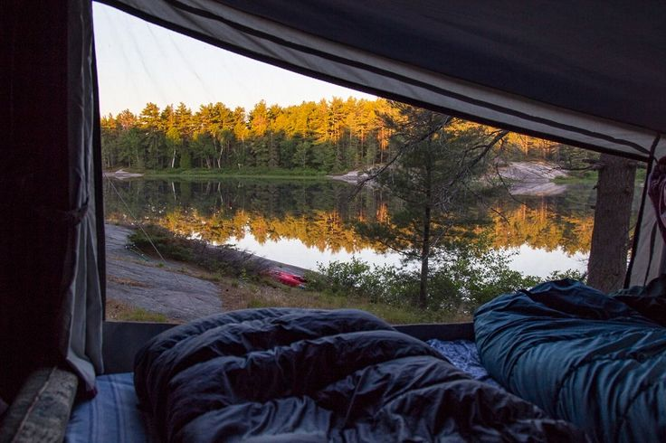 """There are plenty of campgrounds to choose from, from higher end """"glamping"""" sites, to provincial and national parks, to tent and trailer parks.  List of campgrounds north of Toronto."""
