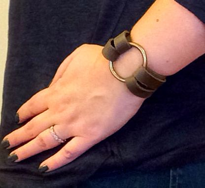 DIY Leather O Ring Bracelet - Inspired by Joanna Gaines from Fixer Upper!