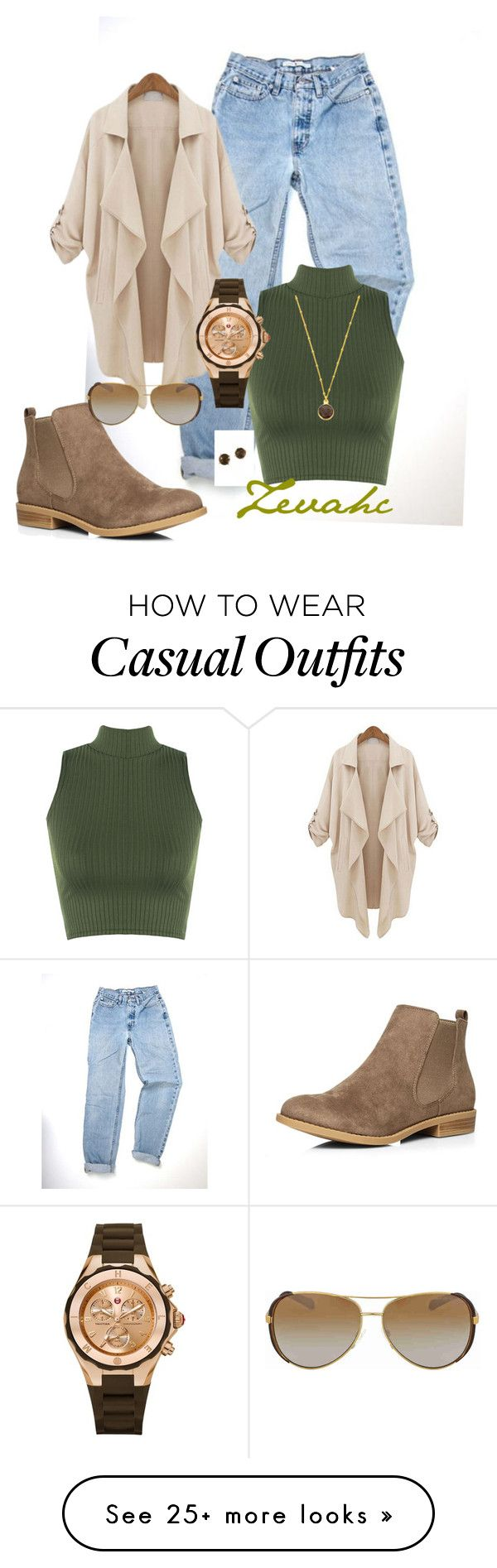 """Casual mode"" by zevahcmary on Polyvore featuring WearAll, Dorothy Perkins, Alchemy Jewelry, Michael Kors, Michele and Effy Jewelry"