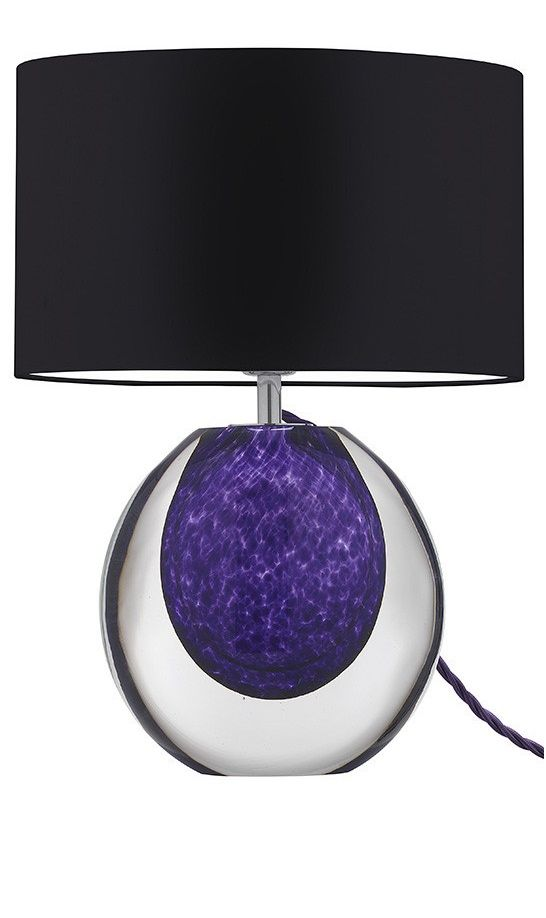 special order design tall perfume bottle art glass table lamp violet tortoiseshell click image for full screen view - Violet Hotel Decor