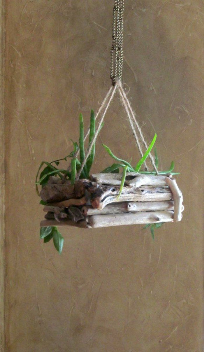 17 meilleures id es propos de planteurs en bois flott sur pinterest plantes grasses bois. Black Bedroom Furniture Sets. Home Design Ideas