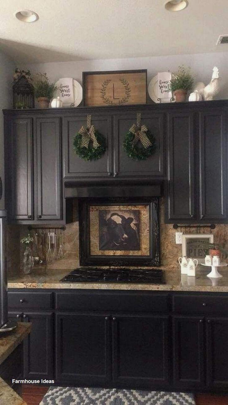 Farmhouse Decoration Ideas In 2020 Farmhouse Kitchen Decor Rustic Farmhouse Kitchen Kitchen Cabinets Decor