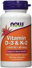 Now foods Vitamin D-3 & K-2 1000 IU...