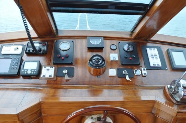 The bridge and navigation deck