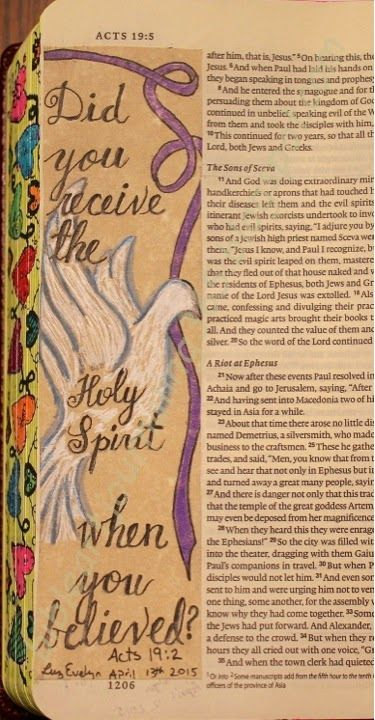 Easy Bible Art Journaling Journey: Acts 19:2 (April 13th)