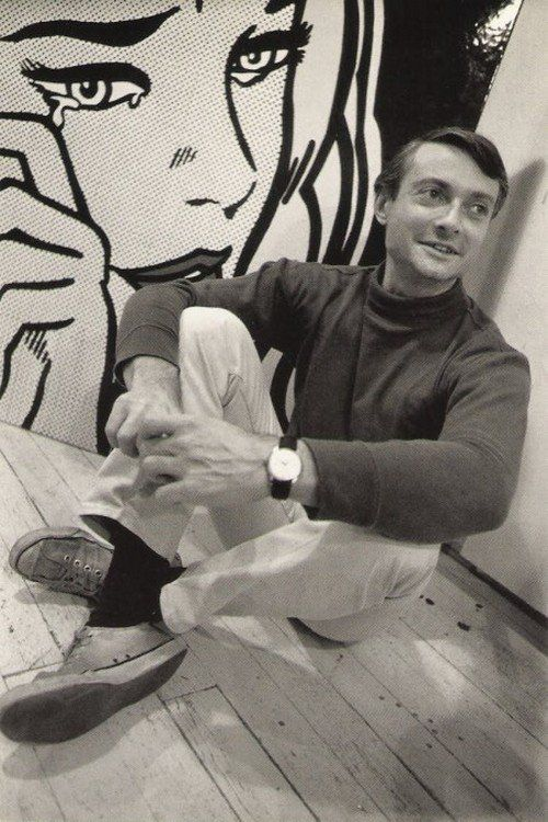 Roy Lichtenstein photographed by Dennis Hopper.