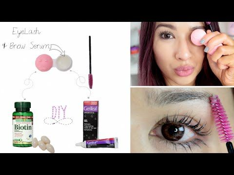 DIY Lash+Brow Growth Serum | 2 Ingredients - YouTube Biotin gels + Vaseline== 2 weeks start noticing results
