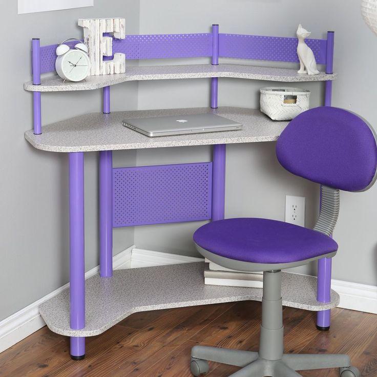 Purple Corner Computer Desk Studio Designs Study Corner Desk