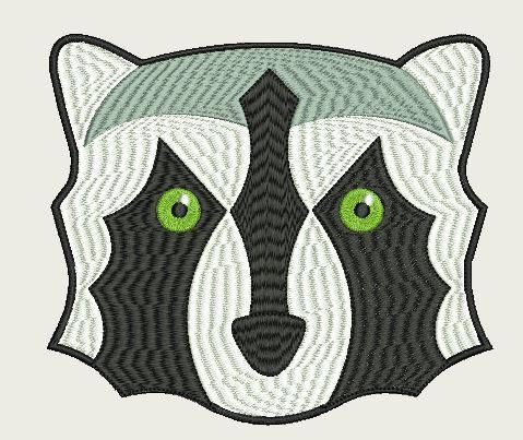 Raccoon Face Large (230 x230 Hoop) by Judean888 on Etsy