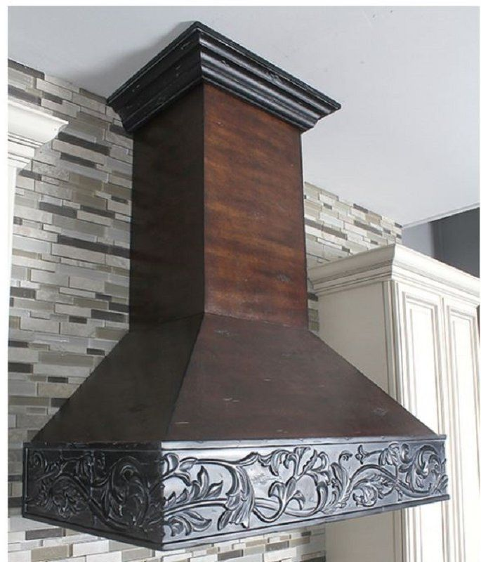 36 Ducted Wall Mount Range Hood Wood Range Hood Range Hood Barn Kitchen