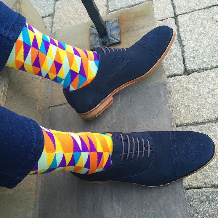 Are people who wear wacky socks smarter and more creative? IDK...but these men's…