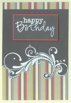 Stamp-it Australia: 3852D Happy Birthday, 3692G Filigree - Card by Lexie