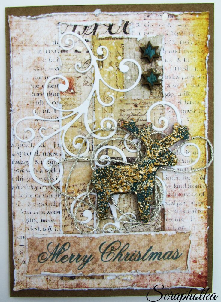 Mixed Media Card - Cartographer, Prima Marketing, Lena Art