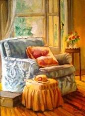 Alice Art Gallery - Jonel Scholtz - SA Artist - Interior oil - KILLING ME SOFTLY