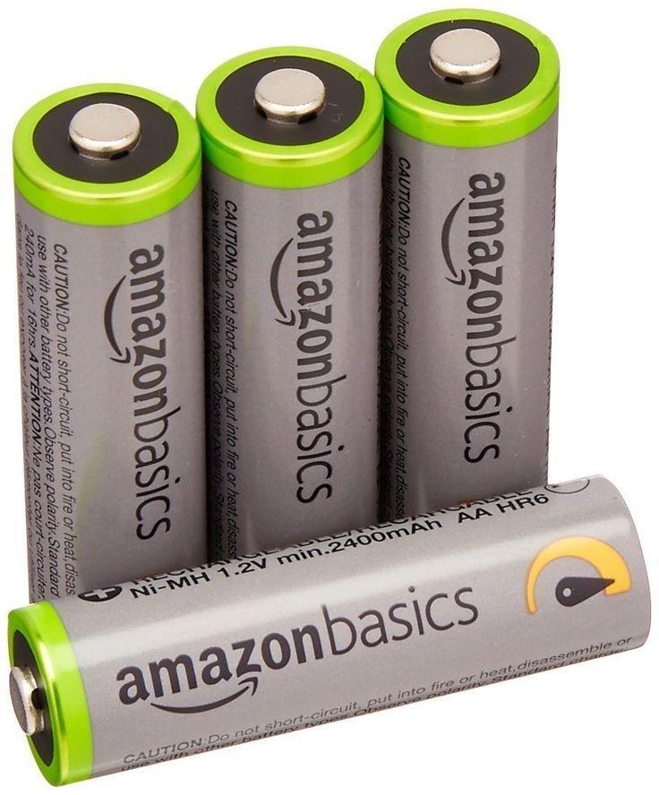 4 Pack Amazonbasics Aa 2400mah Rechargeable Batteries 7 73 Rechargeable Batteries Nimh Battery Solar Charger