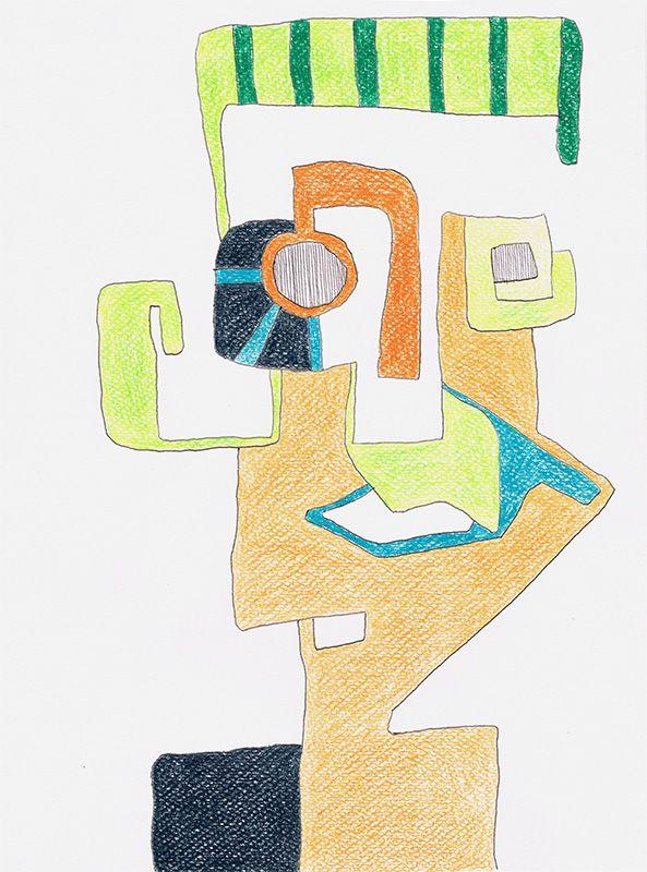 Kunstgalerie KUNSTFLIEGEREI Grafikdesign Gemälde, Kopf
