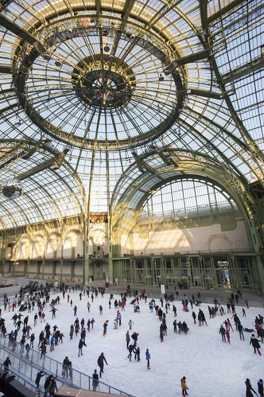 Ice skating in Le Grand-Palais, Paris
