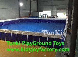 Above Ground Swimming pool A Frame Galvanized steel Ladder with Barrier