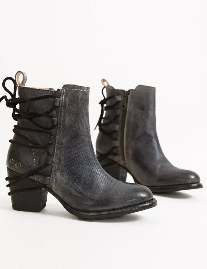 Black Leather Ankle Boots : Bed Stu Blaire Ankle Boot | Buckle
