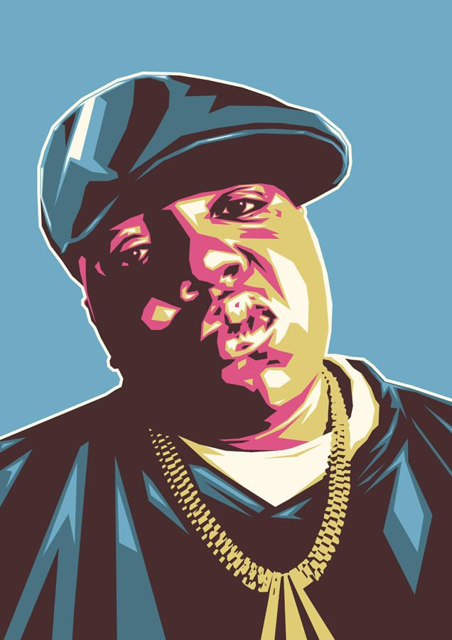 BIG by UCArts Hip hop artwork Biggie smalls art Hip