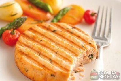 Receita de Hambúrguer de salmão especial