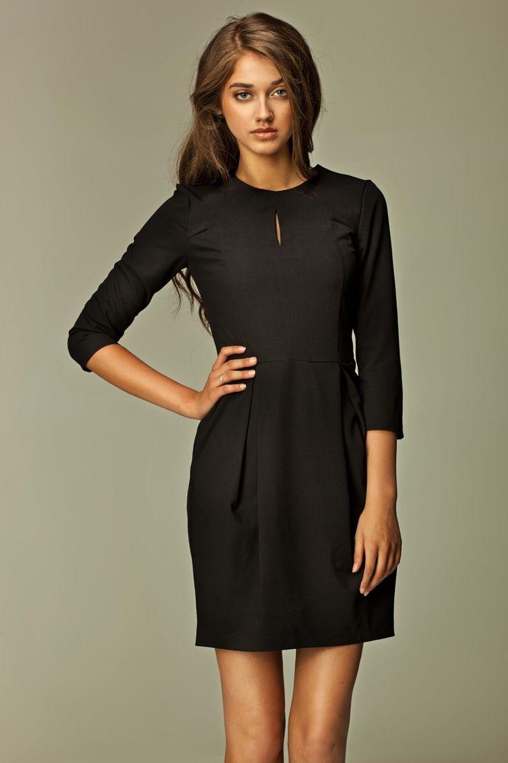 #Robe, manches 3/4, #noire.  #LBD #petiterobenoire
