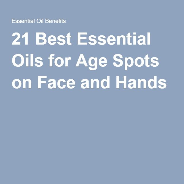 Essential oils for age spots
