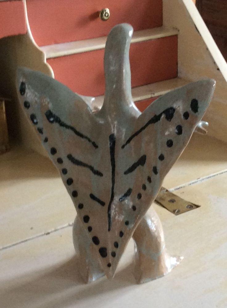"Stoneware sculptures ""lizard woman"", H 31 cm"