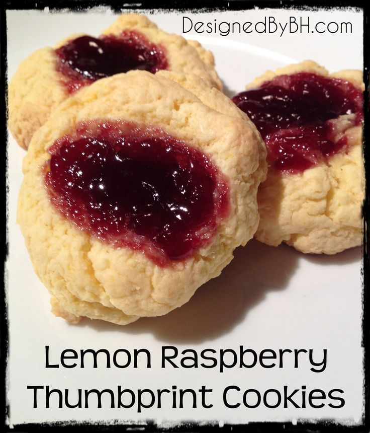 Lemon Raspberry Thumbprints. These sound delish and easy to make