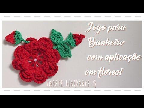 JOGO PARA BANHEIRO COM APLICAÇÃO EM FLORES -TAMPA - YouTube