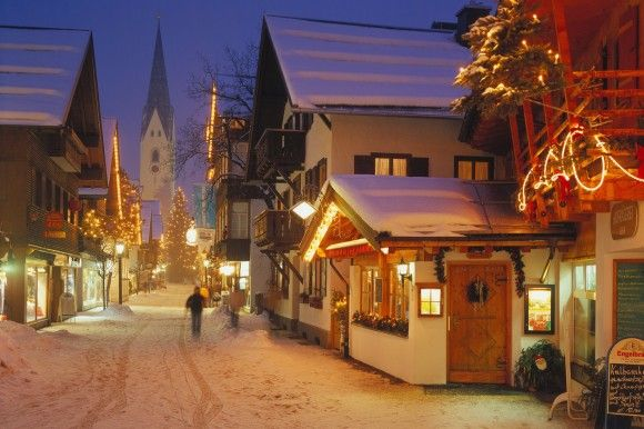 Oberstdorf, Germany #Allgäu Another great photo repined from Deborah Howard - Looks so wonderful - want to go back in winter.