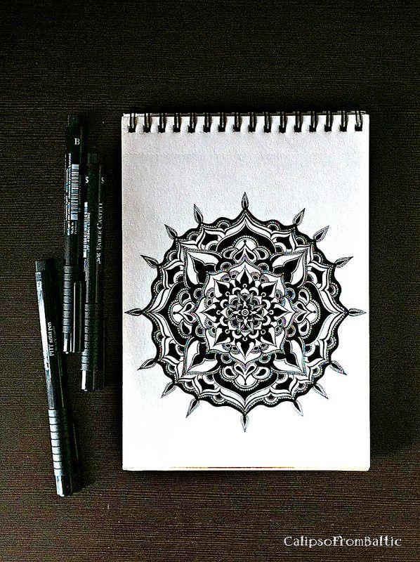 Black-white mandala   by CalipsoFromBaltic