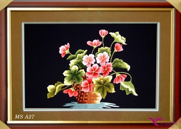 Vietnam hand Art embroidery Picture- a27 http://vinaem.vn/