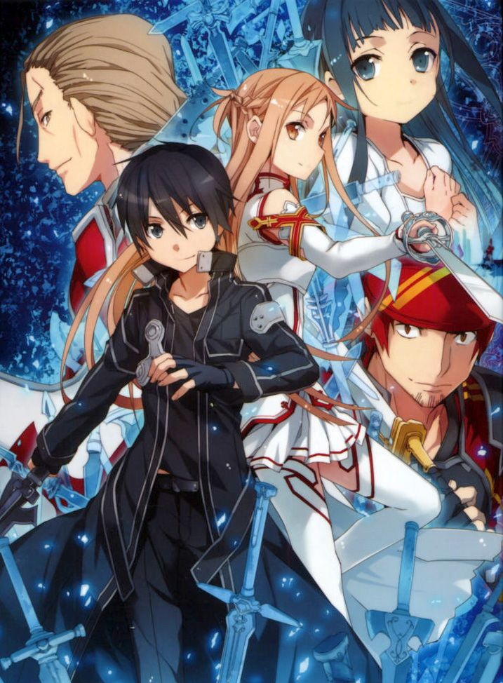 Sword Art Online - In the near future, 10,000 of players log in to a new online VR game only to ...