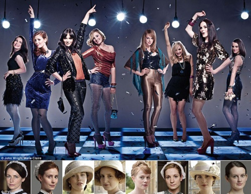 the downton girls...and disco.
