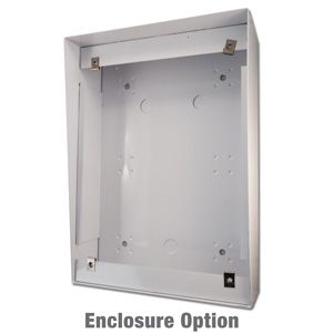 customer service telephone enclosure designed to be vandal resistant, weather resistant and weather tough.