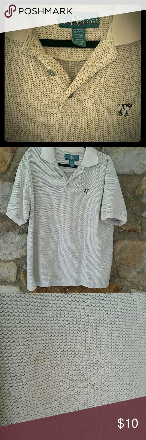 Tan shirt Soft and roomy. Very slight discoloration as pictured. big dog Shirts Polos
