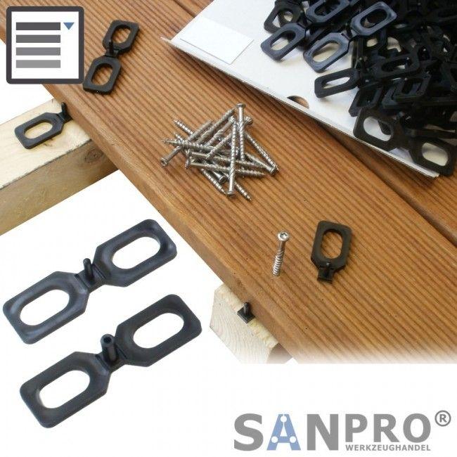 Abstandshalter für Terrassendielen 4 oder 7 mm   SANPRO